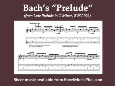 Bach's Lute Prelude (BWV 999) for classical guitar