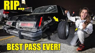 FASTEST DRAG PASS EVER ENDS IN DISASTER! WE SENT IT A LITTLE TOO HARD BOYS...