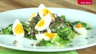 Linsensalat mit Eiern auf Lattich von Betty Bossi (Vegi) Thumbnail