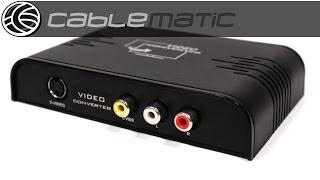 Conversor HDMI a Audio y Video (1 HDMI a 3 RCA 1 S-Video) distribuido por CABLEMATIC ®