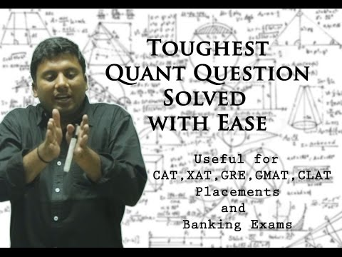 Learn to solve the Toughest Quant Question-Anil Nair's way