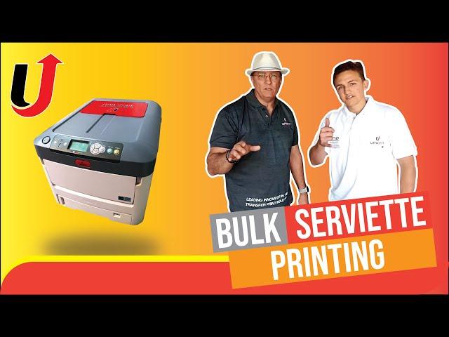 Serviettes Printed in bulk(2000 full colour transfer prints)