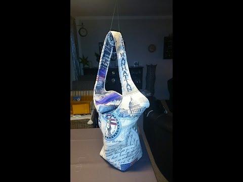 Nähanleitung moderne Tasche Purse Beutel Stofftasche mit Schnittmuster kinderleicht zum selber nähen