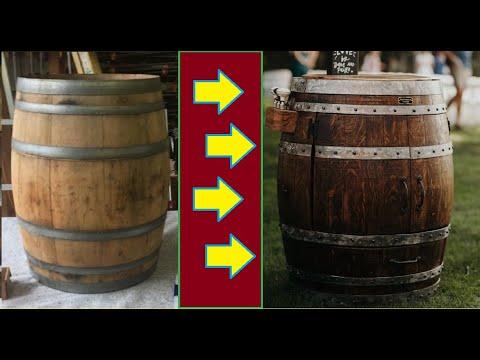 DIY: Wine Barrel Bar