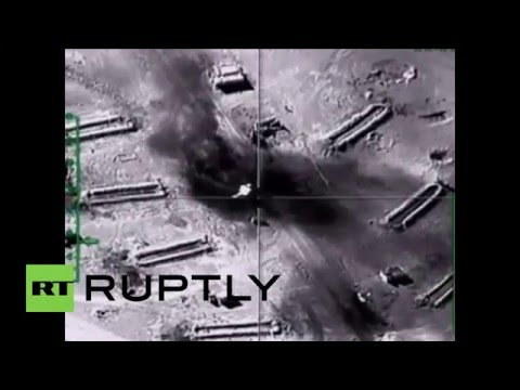 Syria: Islamic State oil tankers destroyed by Russian airstrikes