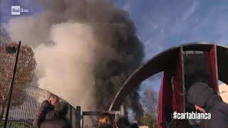 L'incendio all'impianto Ama di Roma - #cartabianca 11/12/2018