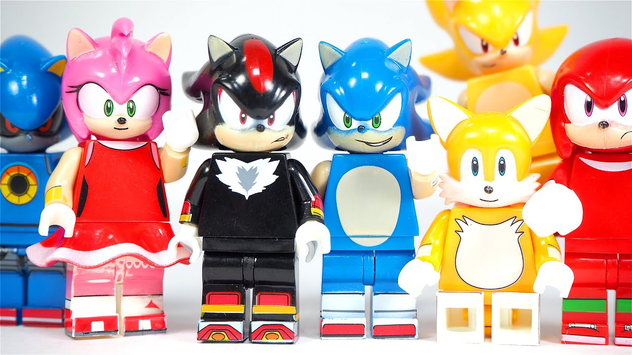 Sonic The Hedgehog Shadow Knuckles Tails Silver Super Sonic Metal Sonic Unofficial Lego Minifigures Youtube