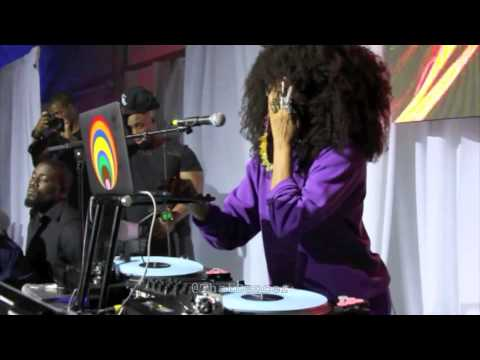 Erykah Badu DJ Set in Miami (Art Basel 2014)