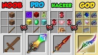 Minecraft NOOB vs. PRO vs. HACKER vs. GOD: HIDDEN CRAFTING RECIPE in Minecraft! (Animation)