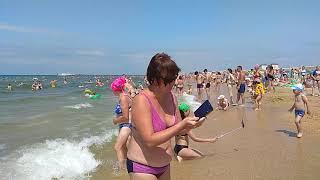 27 июня 2021 года пляж #Аквамарин #Витязево очень много народу