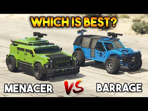 GTA 5 ONLINE : MENACER VS BARRAGE (WHICH IS BEST?)