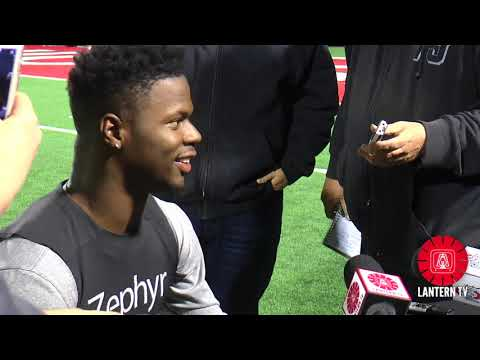 Ohio State LB Jerome Baker speaks after practice on 10/24.