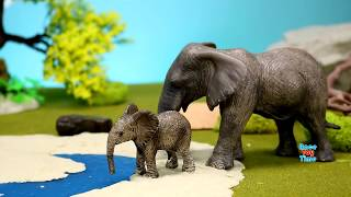 Wild Animals Toys in Motion - Learn Animal Names For Kids