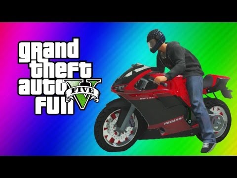 Thumbnail: GTA 5 Online Funny Moments Gameplay - Motorcycle Jet, Garage Party, Running Glitch, Baseball, WAPOW!