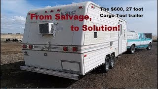 Stealth Cargo Trailer from Salvaged RV, major rebuilt & tow ready