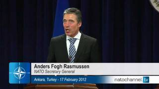 NATO Secretary General - Joint Press Point w/ Minister of Foreign Affairs of Turkey