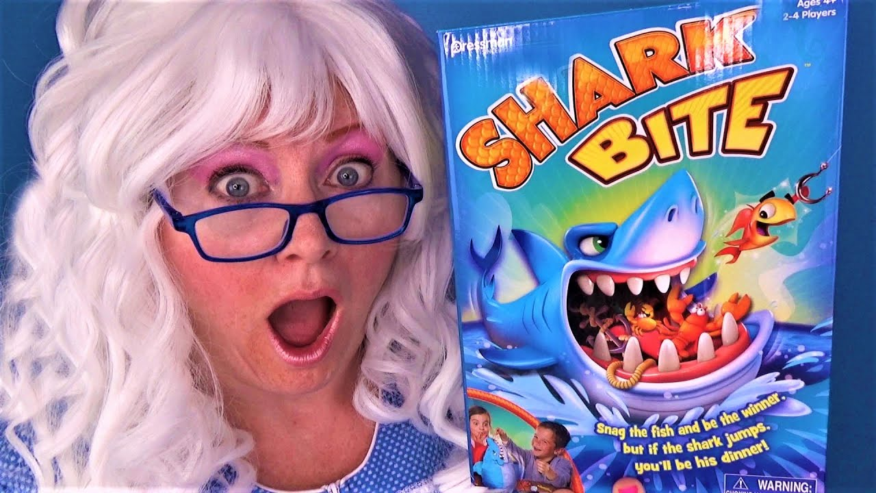 Shark Bite Game Funny Review Unboxing Granny McDonald Freaks Out