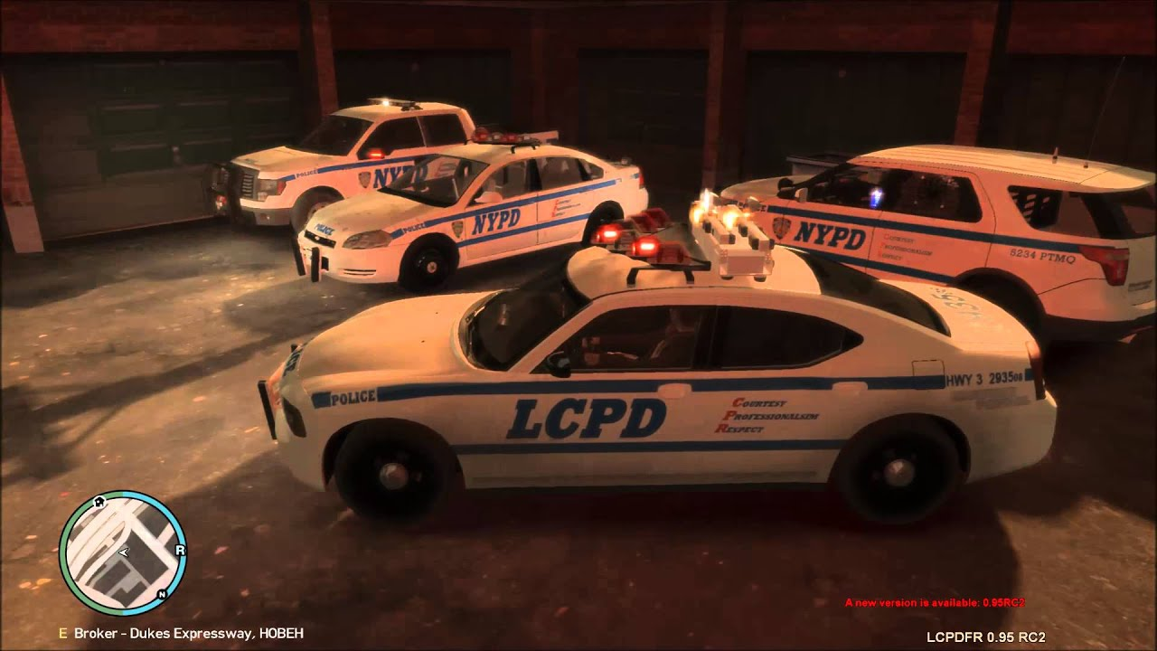 GTA IV: NYPD/LCPD police cars - YouTube