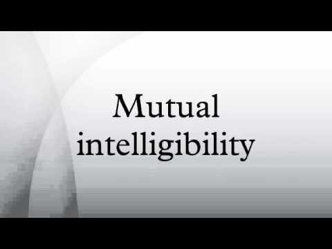Mutual intelligibility