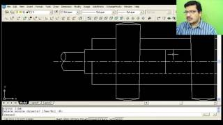 Cotter joint with Sleeve   Auto CAD Tutorial