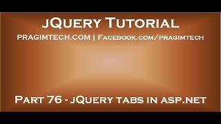 jQuery tabs in ASP.NET