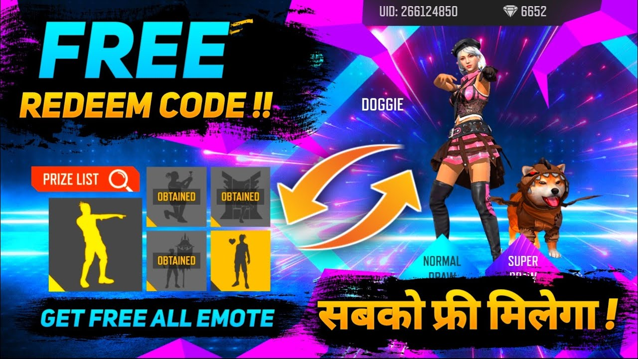 I GOT DOGGY EMOTE WITH 400₹ FREE REDEEM CODE NEW EMOTE PARTY EVENT | FREE FIRE NEW EVENT FULL REVIEW