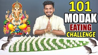 101 MODAK EATING CHALLENGE | GANESH CHATURTI SPECIAL VIDEO | Food Challenge in India (Ep - 93)