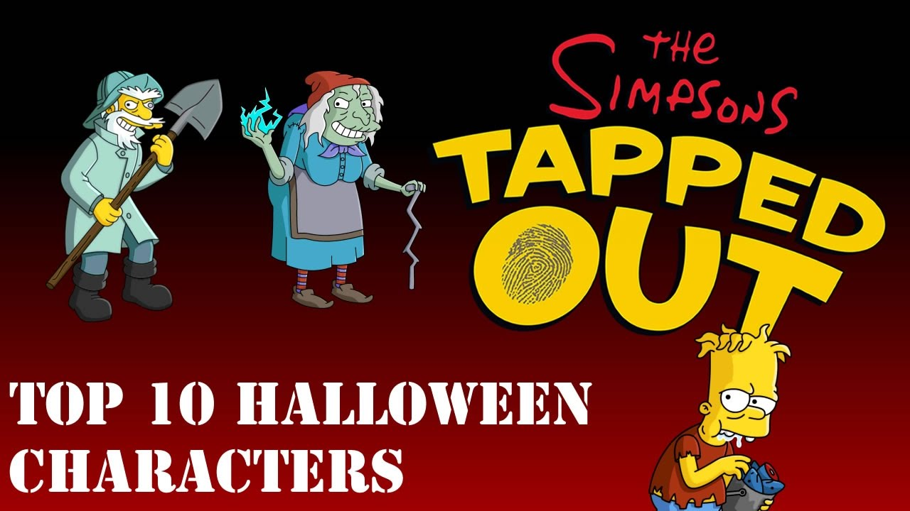 Top 10 Halloween Characters In The Simpsons Tapped Out - YouTube