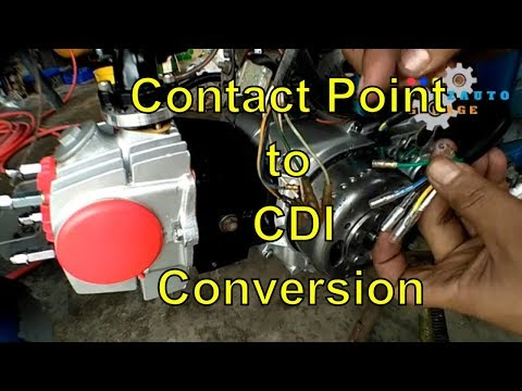 Honda C70 Convert Wiring Ex5 Contact Point To Cdi Youtube