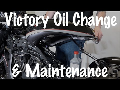 How to do routine maintenance oil change on Victory ... Victory Cross Country Wiring Diagram on