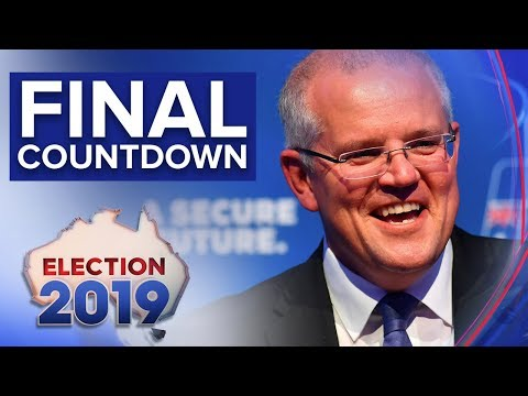Scott Morrison says he's exhilarated despite polls pointing to loss | Nine News Australia