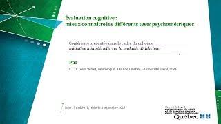 Évaluation cognitive: mieux connaître les différents tests psychométriques