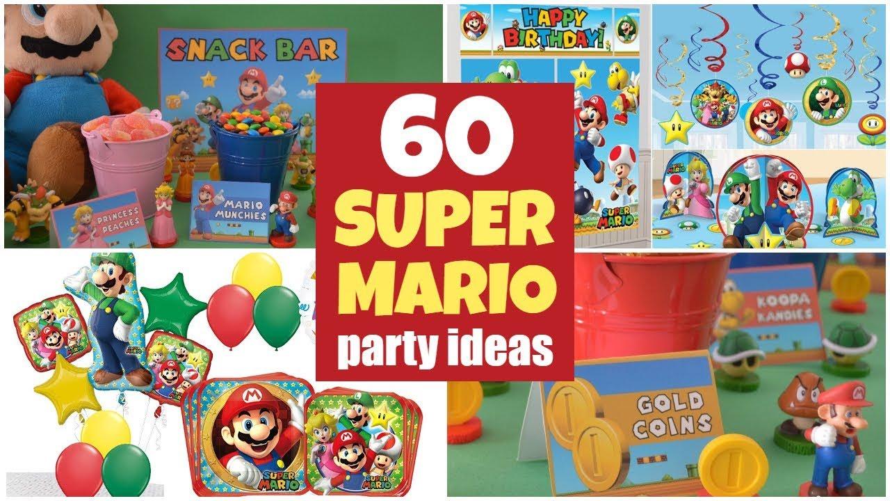 60 Super Mario Party Ideas And Super Mario Bros Supplies Youtube