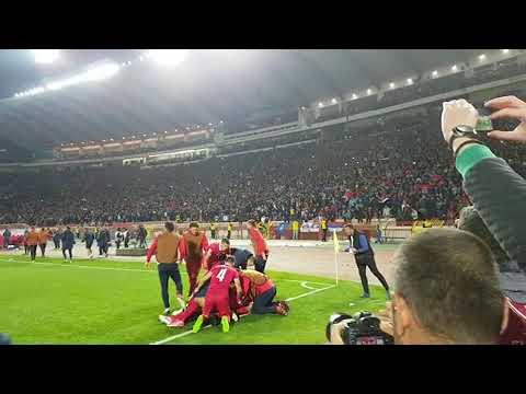 Srbija - Gruzija 1:0, slavlje navijača posle gola