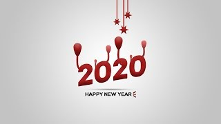 Happy New Year 2020 Wallpaper Card Poster Design in Photoshop Photoshop Tutorial