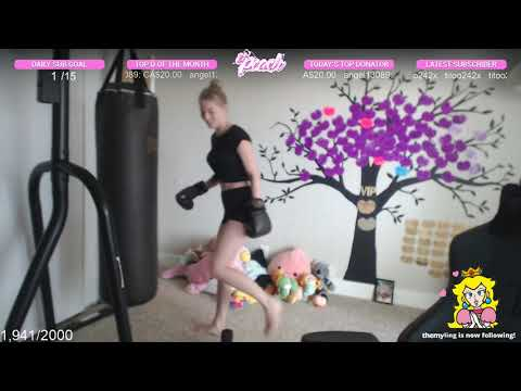 STPeach Training For Boxing Match!!