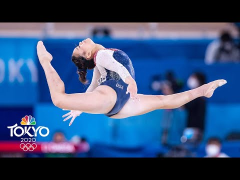 Suni Lee DELIVERS on the floor to win all-around gold for USA | Tokyo Olympics | NBC Sports