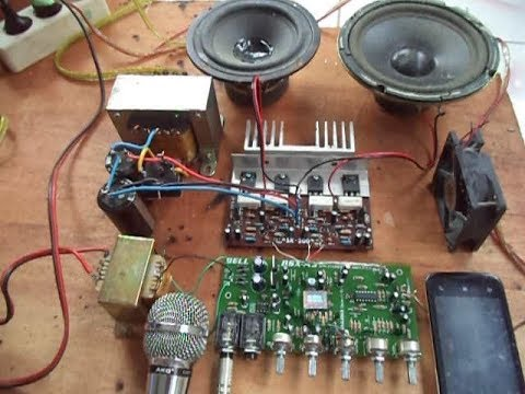 Merakit Amplifier Karaoke 2 Mic + Echo (Tutorial)