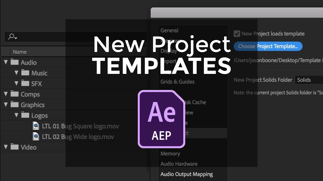 Project Templates In After Effects 2018 Youtube