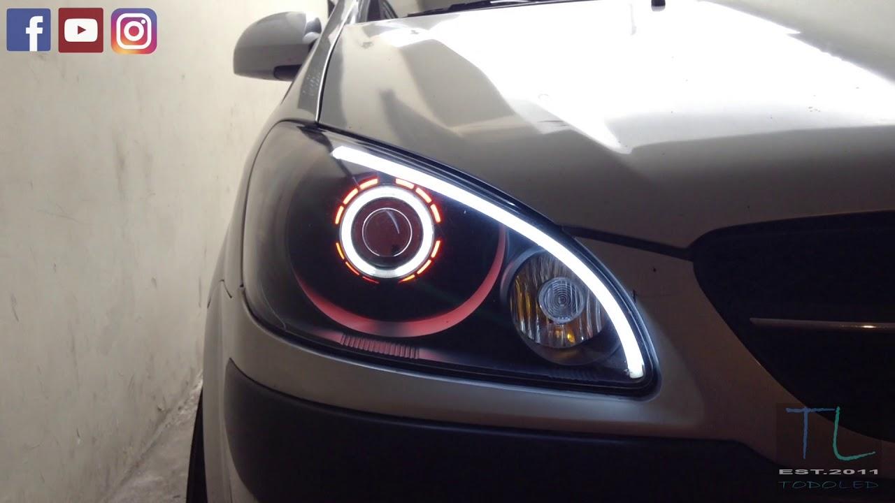 Retrofit Headlight Faros Hyundai Getz Projector Bi