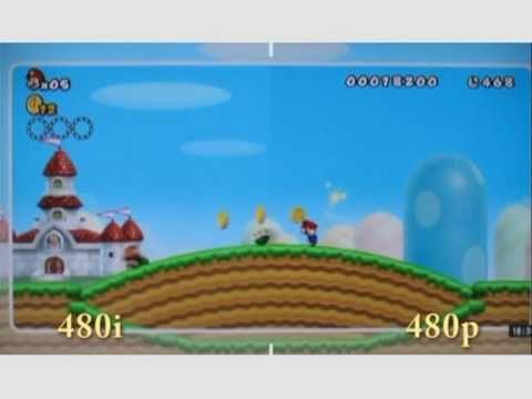 Wii 480p vs. 480i New Supermario Bros.