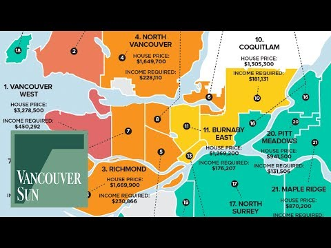 Metro Vancouver real estate: Gap between income and house prices