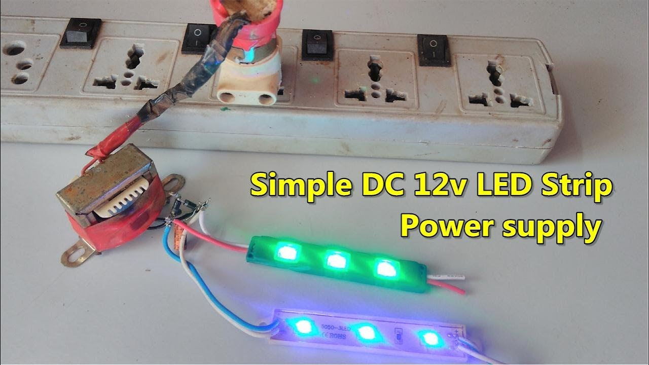 how to make a simple 230v ac to dc 12v led strip power supply [ 1280 x 720 Pixel ]