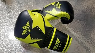 Elite Sports Star Gel Boxing, Kickboxing Training Gloves Unboxing and Review.