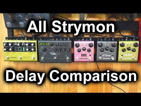 All Strymon Delay Pedals Comparison