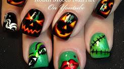 easy halloween nails  cute holiday nails  nail art