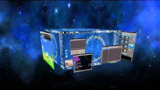 ubuntu 3D Desktop (Cube) (KDE & Compiz Fusion & CairoDock) fullHD 1080p