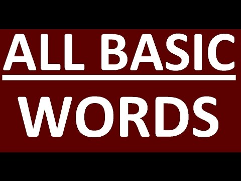 ALL BASIC ENGLIS WORDS YOU NEED WITH EXAMPLES. VOCABULARY WORDS. LEARN ENGLISH