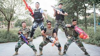 Nerf Guns War : Dangerous Missions Of Men Police SEAL TEAM Special Attack Enemies Groups Nerf Guns