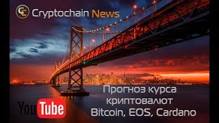 Прогноз курса криптовалют Bitcoin, EOS, Cardano  Коррекция или разворот?